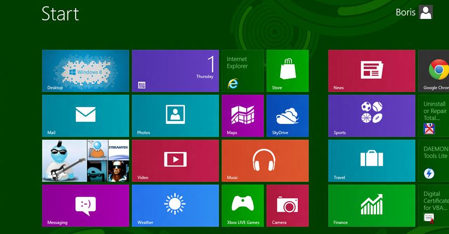 changer le nombre de lignes de tuiles dans Windows 8