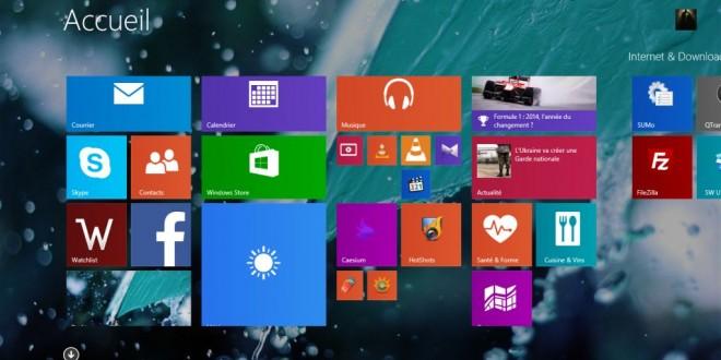 Sauvegarder et restaurer l'écran de démarrage metro de Windows 8.1