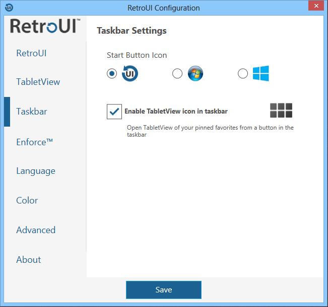 RetroUI Pro exécutent les applications metro au bureau