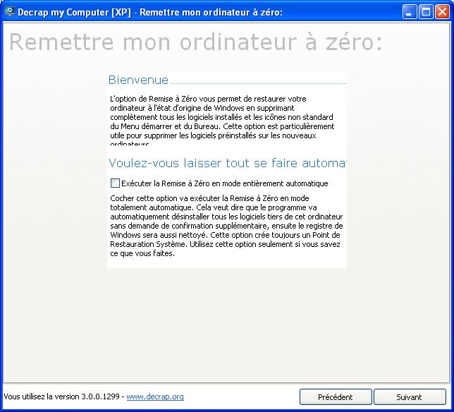 Decrap supprime les logiciels inutiles sur le PC
