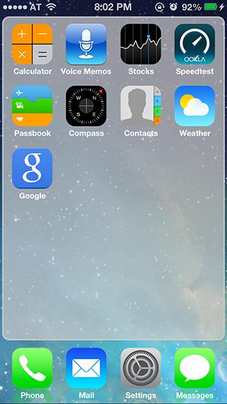 Changer l'apparence d'iOS 6 en iOS 7