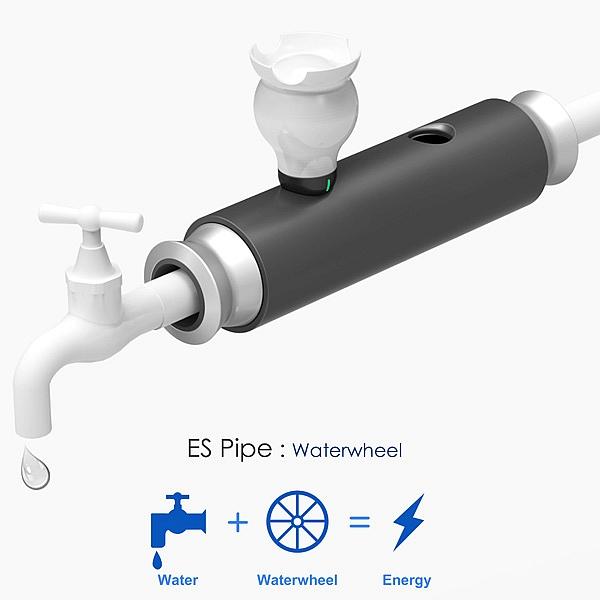 Waterwheel Transforme l'approvisionnement régulier en eau en un mini générateur hydroélectrique