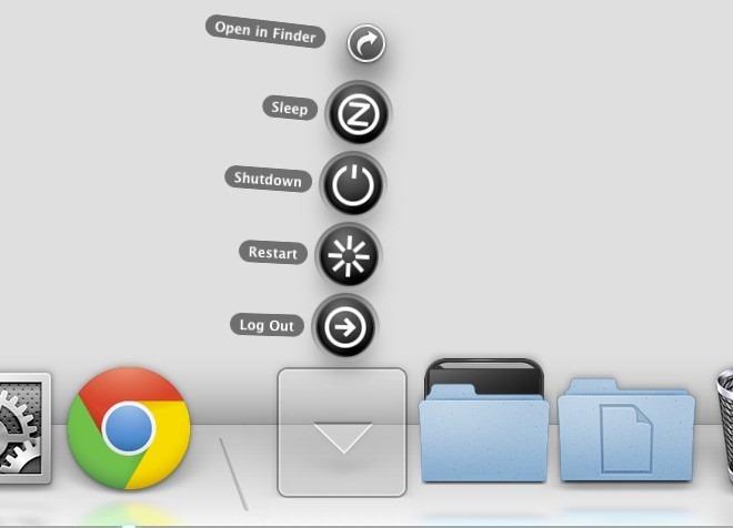 Déconnexion, Veille, Arrêt et redémarrage d'OS X à partir du Dock