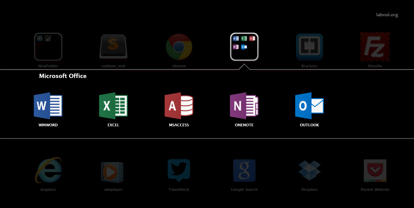 Un lanceur d'applications style iOS pour Windows