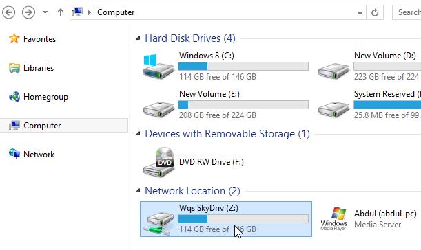 Mapper un dossier SkyDrive Comme un lecteur réseau sur Windows 8 et RT