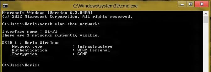 Comment se connecter en ligne de commande au réseau Wi-Fi sous Windows