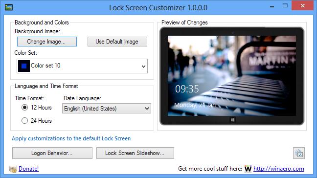 Changer automatiquement le fonds d'écran de verrouillage sur Windows 8