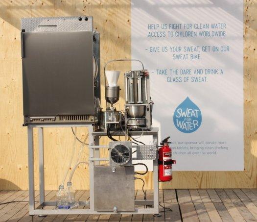 Une machine qui transforme la sueur en eau potable