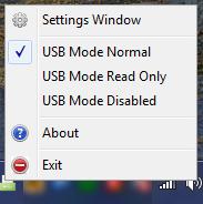 Contrôler les droits de lecture et d'écriture des clés USB