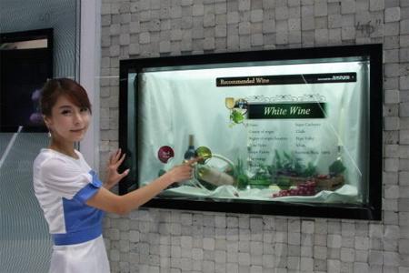 La télévision transparente de Samsung