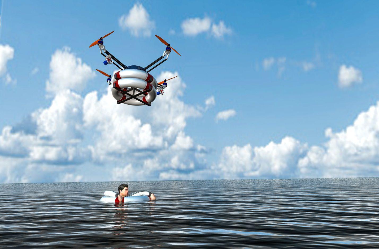 Un drone spécial pour secourir les personnes dans la mer
