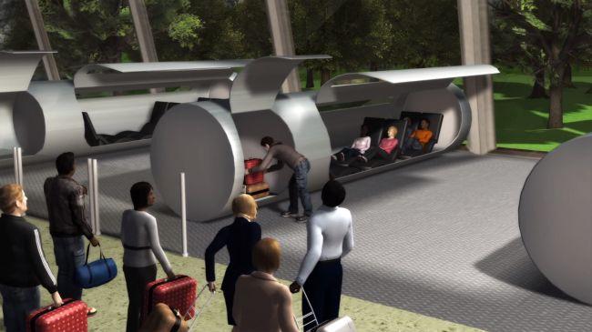 Le train du futur serait un tube sous vide