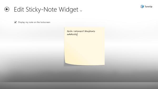 Ajouter des notes et widgets sur l'écran de verrouillage de Windows 8
