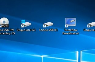 Afficher automatiquement les raccourcis USB sur le bureau