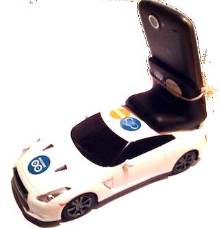 Une voiture télécommandée par un smartphone android