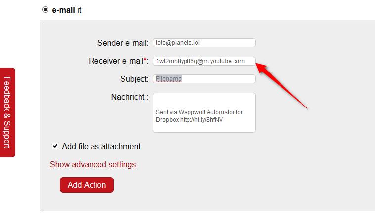 Envoyer des vidéos par FTP ou URL à Vimeo ou Youtube