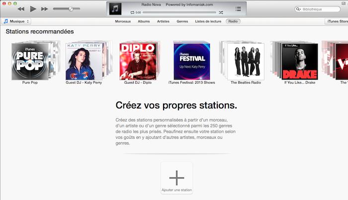 Activer iTunes Radio en dehors des États-Unis