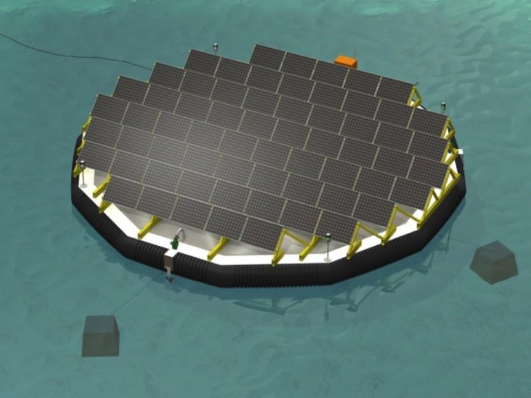 Viteos teste des îles flottantes solaires