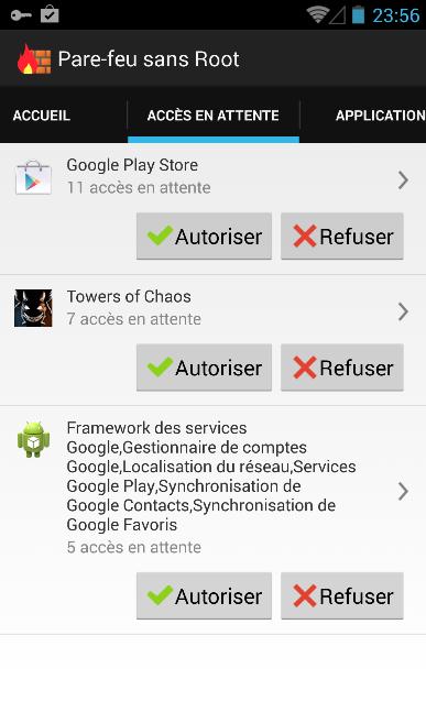 Un pare-feu logiciel pour votre appareil Android