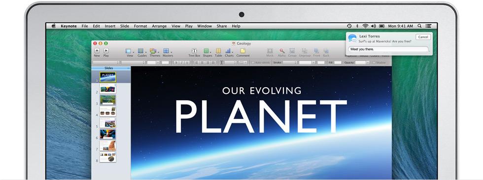 Tester les meilleures fonctionnalités de Mac OS X Mavericks