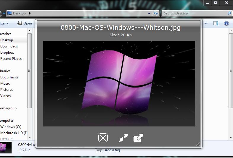 Les meilleures fonctionnalit s de mac os x sous windows for Reduire fenetre mac