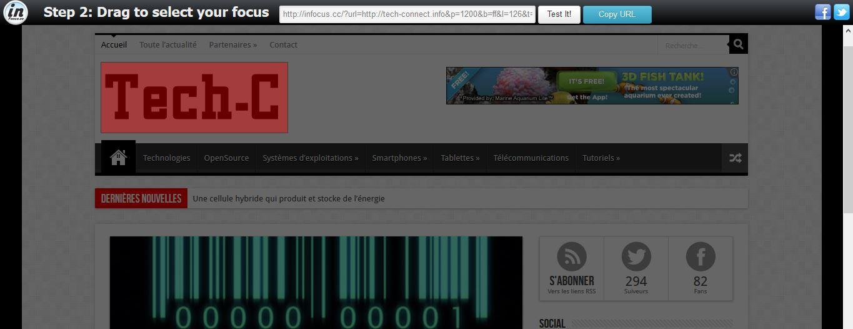 inFocus permet de partager une portion d'une page Web