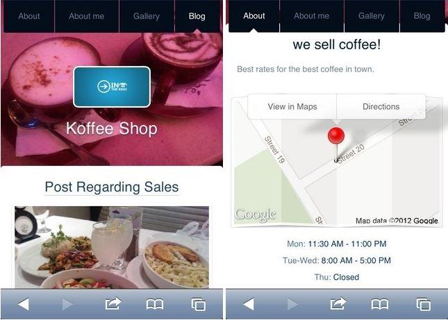 M.dot vous permet de créer un site mobile sur votre iPhone