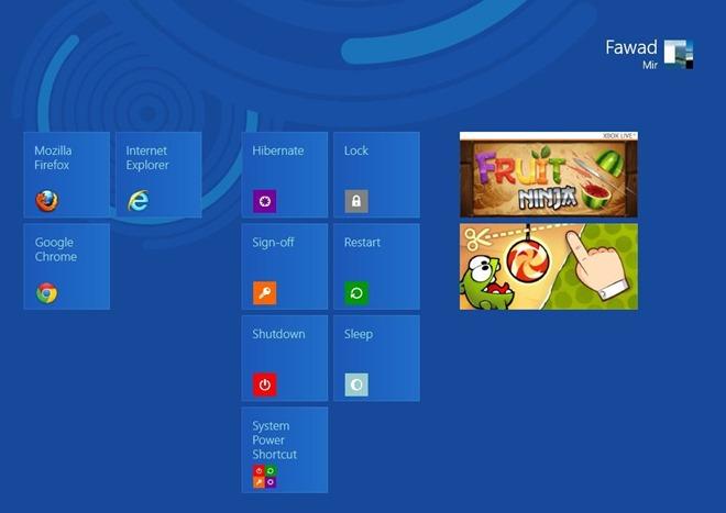 Comment ajouter les tuiles d'arrêt, de redémarrage et déconnexion sur l'écran de démarrage de Windows 8