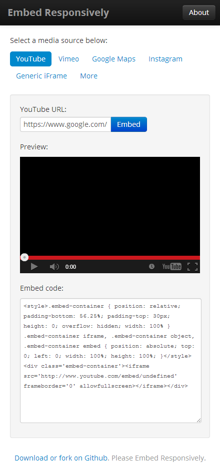 Rendre le code YouTube, Instagram, Google Maps et Vimeo responsive